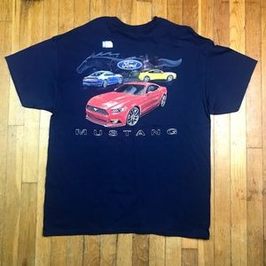 FORD Mustang Men's Blue T-Shirt Size XL New